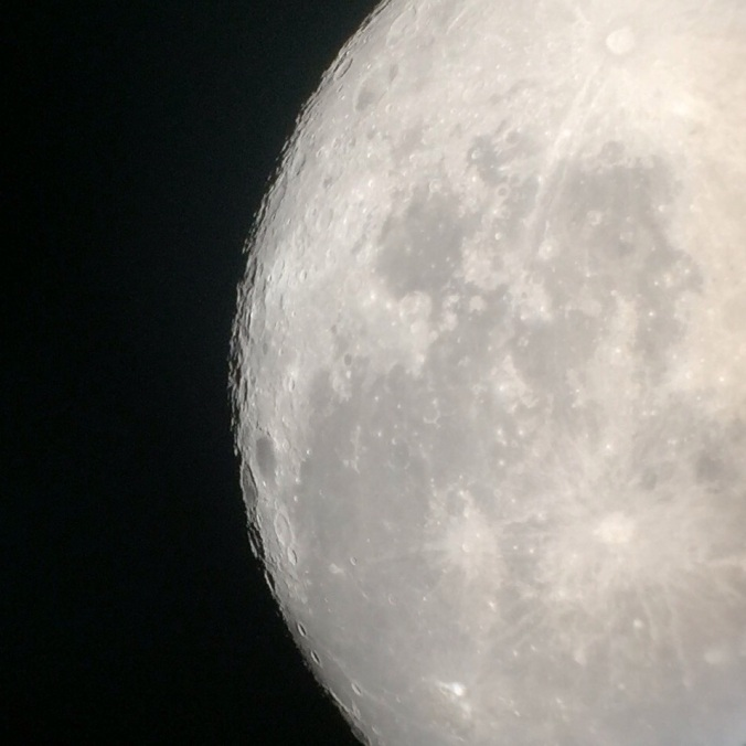 Moon through a telescope