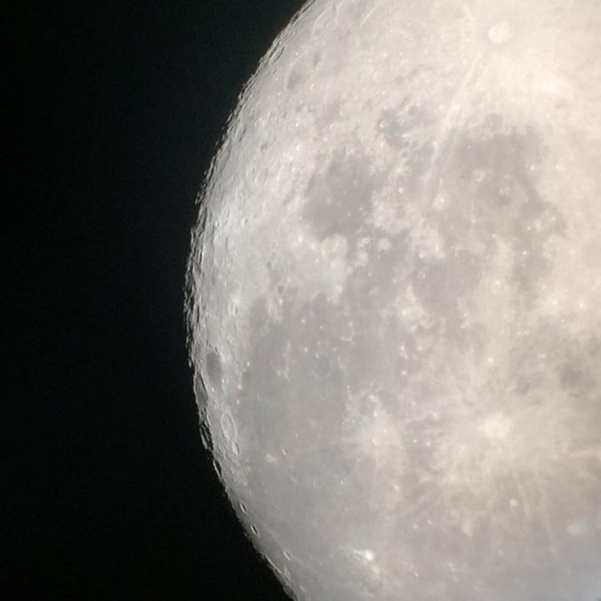 Moon through a telescope